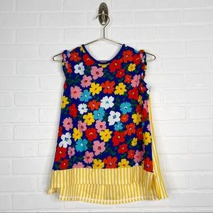 Hanna Andersson Floral Striped Top Size 150